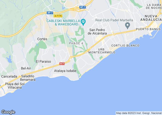 Map for Andalusia, Malaga, Guadalmina