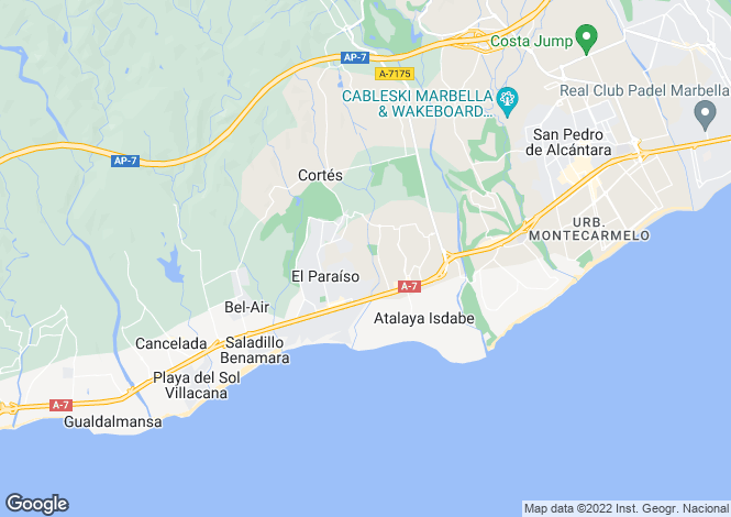 Map for Andalucia, Malaga, El Paraiso