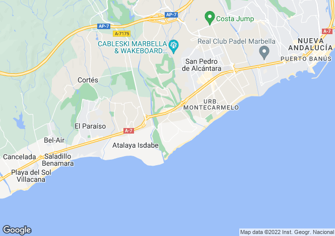 Map for Guadalmina Baja, San Pedro de Alcantara, Malaga, Spain