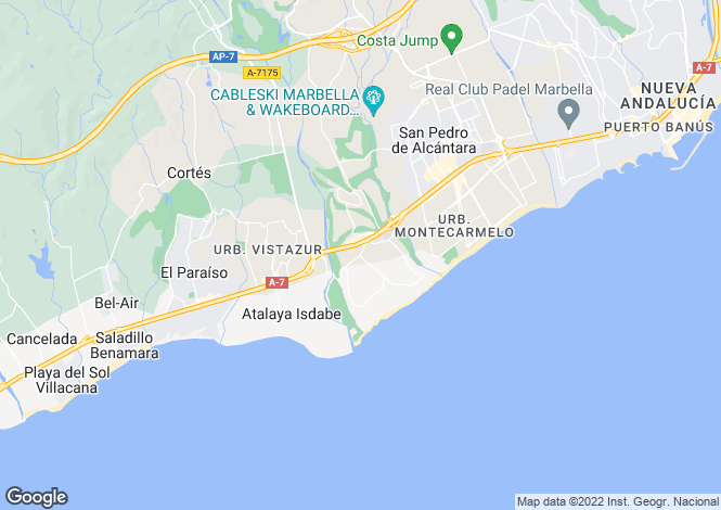 Map for Andalucia, Guadalmina