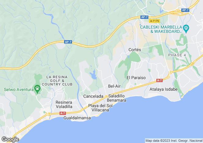 Map for Estepona, Spain