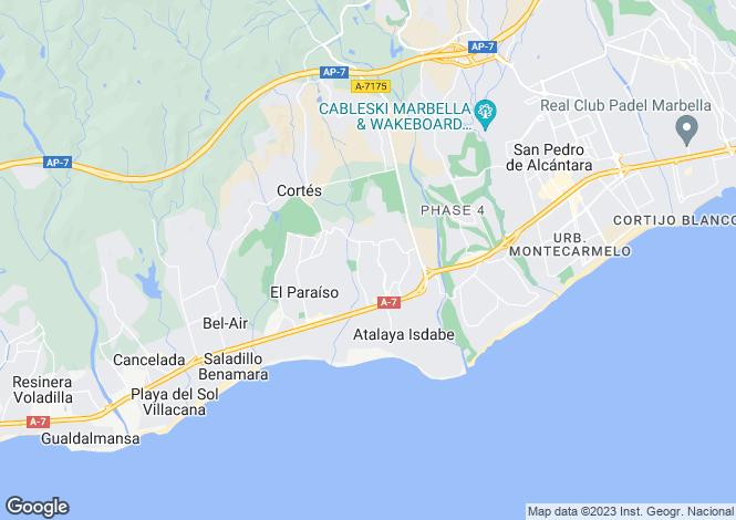 Map for El Paraiso - Belair, Marbella-Estepona, Spain