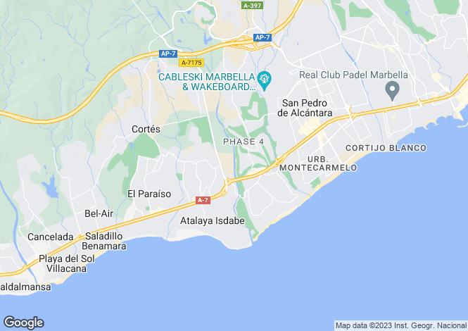 Map for Atalaya, Estepona, Malaga, Spain