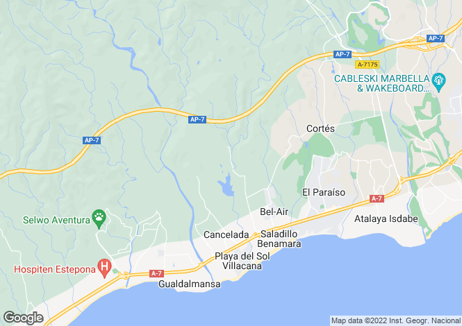 Map for Los Flamingos Golf, Benahavis, Malaga, Spain