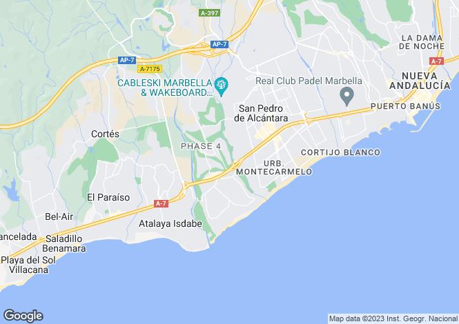 Map for Spain - Andalusia, Malaga, Marbella