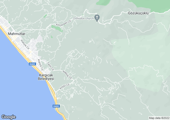 Map for Antalya, Alanya, Kargicak