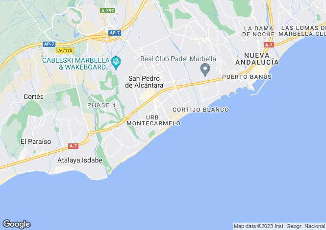 Map for Spain - Andalusia, Malaga, Guadalmina Baja