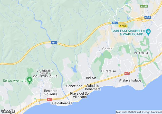 Map for Benahavís, Málaga, Andalusia