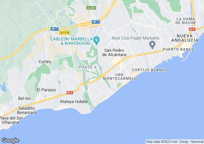 Map for Marbella - Puerto Banus, Malaga, Spain