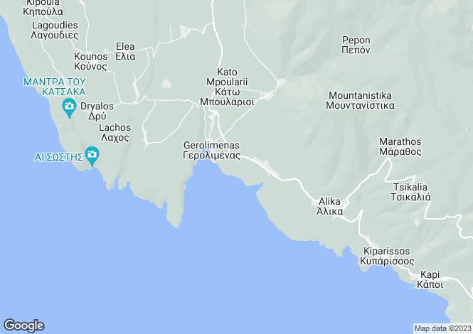 Map for Peloponnese, Laconia, Gerolimenas