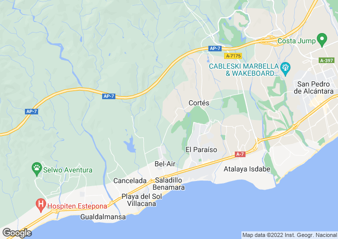 Map for Spain - Andalucia, Malaga, El Paraiso