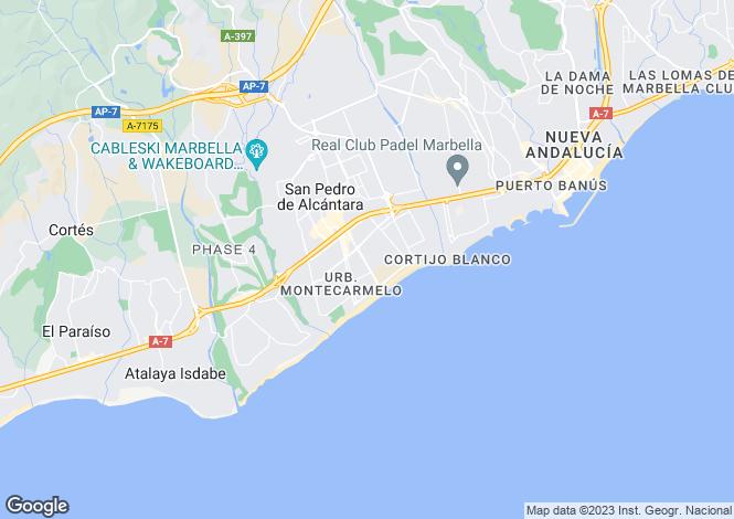 Map for Andalusia, Málaga, San Pedro de Alcántara