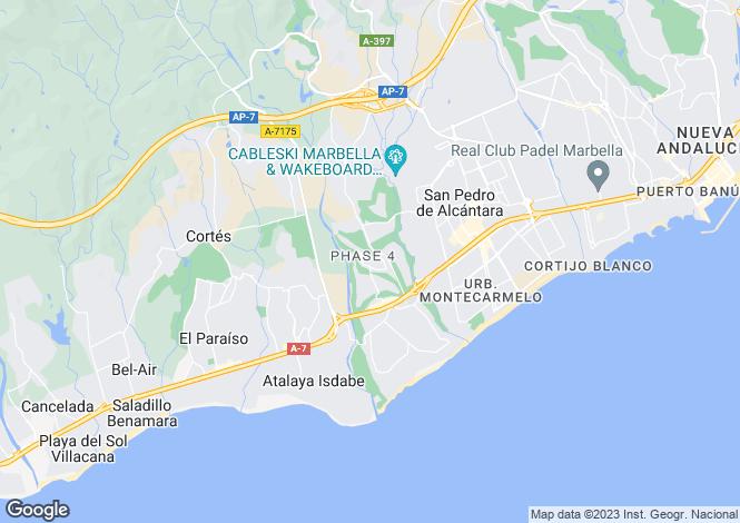 Map for Guadalmina Alta, Andalucia, Spain