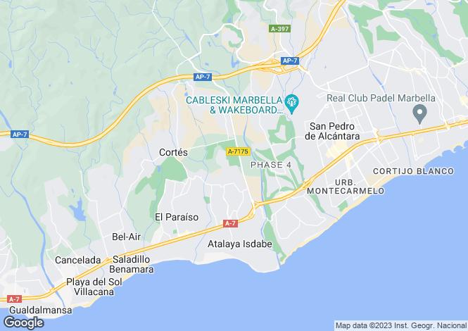 Map for New Golden Mile, Estepona, Malaga, Spain