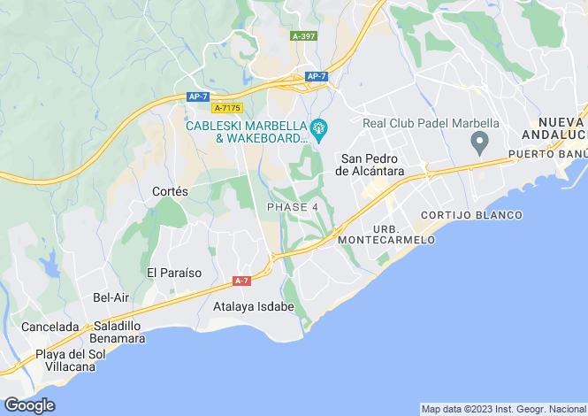 Map for San Pedro de Alcántara, Málaga, Andalusia