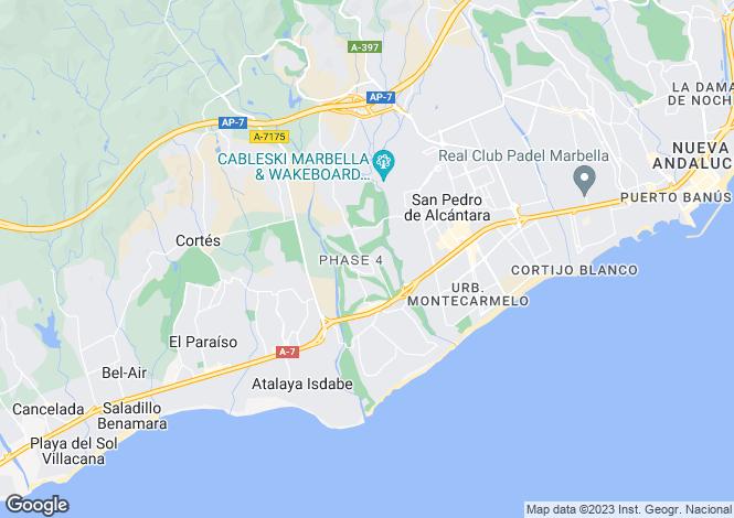 Map for Spain - Andalusia, Malaga, Guadalmina Alta