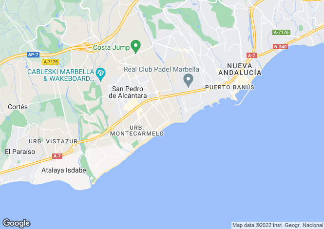 Map for Los Arqueros, Málaga, Andalusia