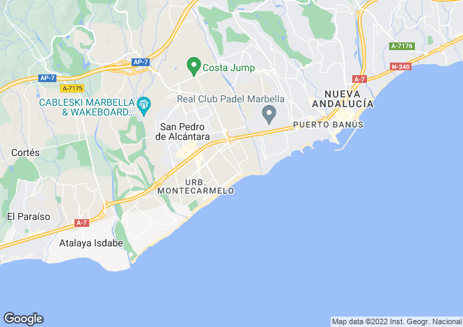 Map for Andalucia, Malaga, Los Arqueros