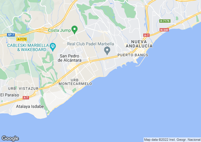 Map for San Pedro, Marbella, Spain