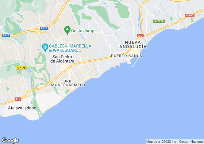Map for Andalusia, Malaga, Puerto Banús