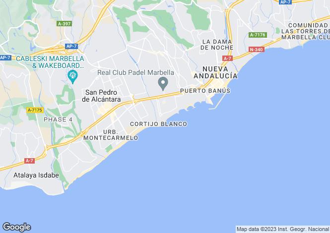 Map for Andalucia, Malaga, Puerto Banús