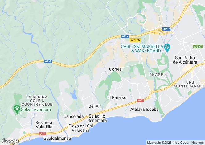 Map for Spain - Andalucia, Malaga, Benahavis