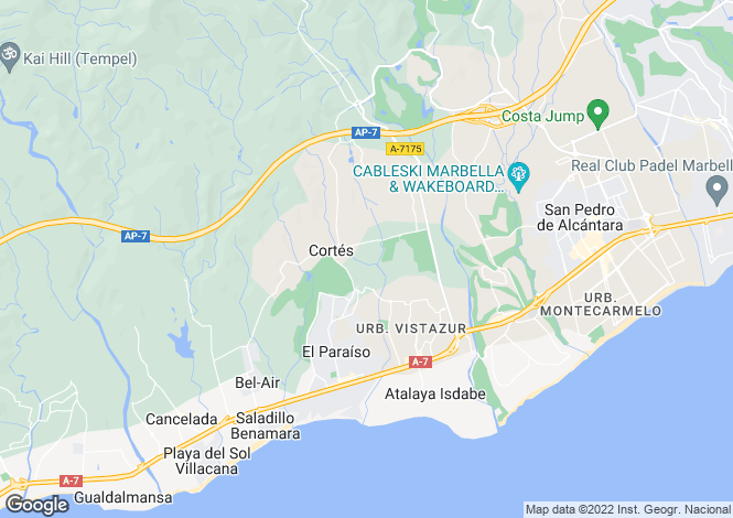 Map for El Paraiso, Estepona, Malaga, Spain
