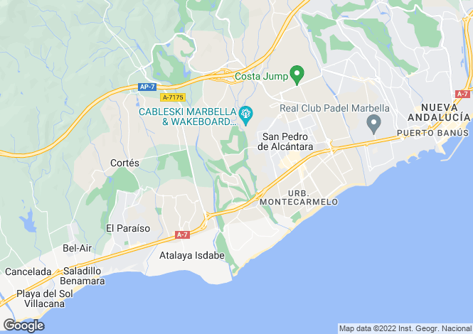 Map for Andalucia, Malaga, Guadalmina Alta