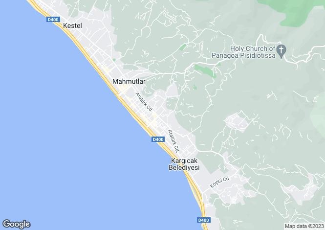 Map for Mahmutlar, Alanya, Antalya