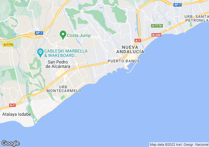 Map for Casa Nova Apartments, Mistral Beach, Puerto Banus, Spain