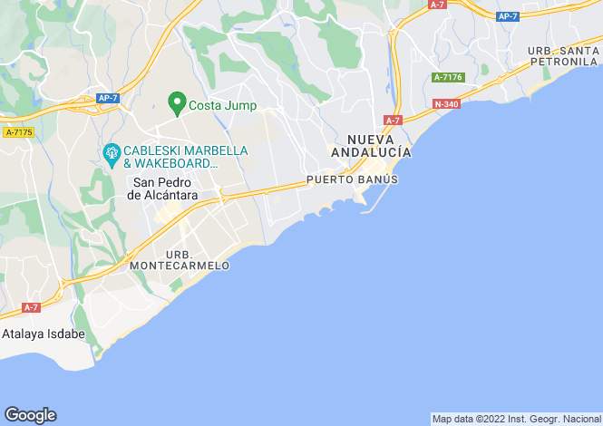 Map for Mistral Beach, Puerto Banus, Marbella