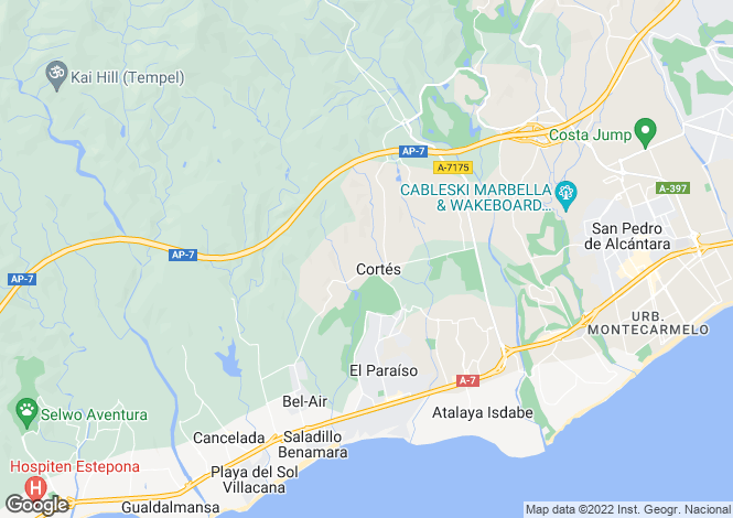 Map for Apartments and Townhouses, Estepona