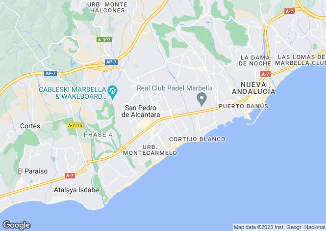 Map for Andalusia, Malaga, San Pedro de Alcántara
