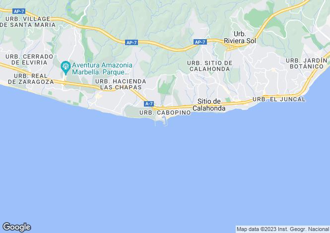 Map for Puerto de Cabopino, Costa Del Sol, Spain