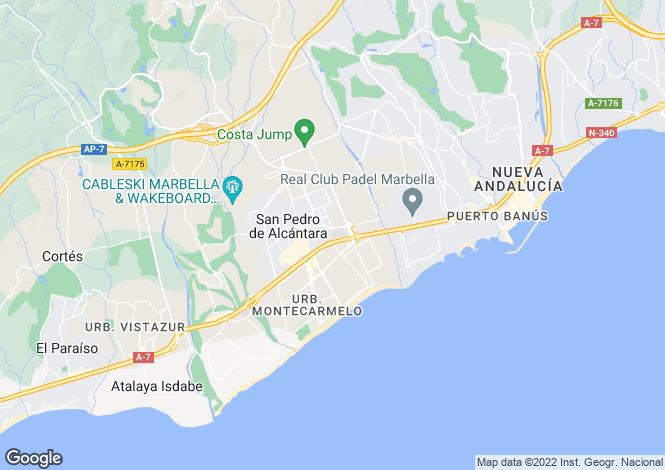 Map for Andalusia, Malaga, San Pedro de Alcántara