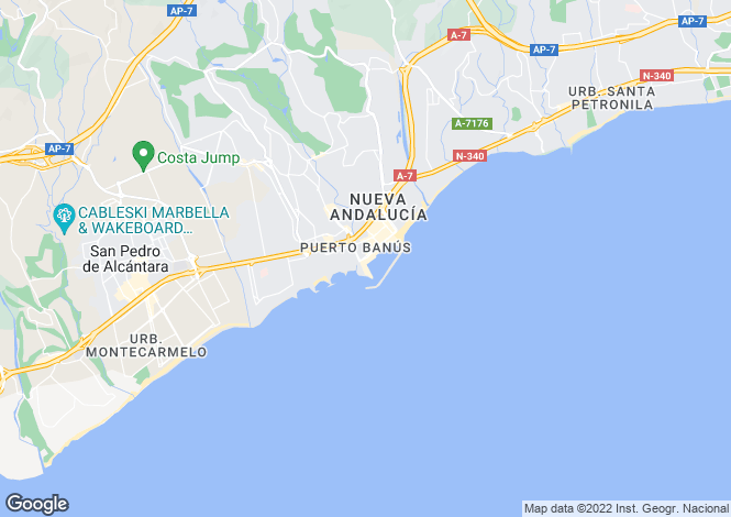 Map for Spain - Andalusia, Malaga, Puerto Banús
