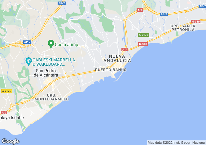 Map for Andalucia, Malaga, Puerto Banús