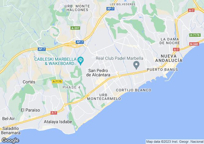 Map for Andalucia, Malaga, San Pedro de Alcántara