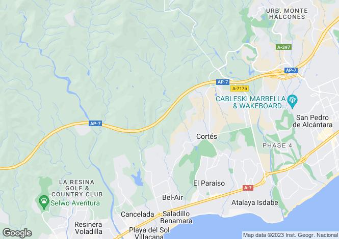 Map for Elevated Position Villas, La Alqueria, Benahavis