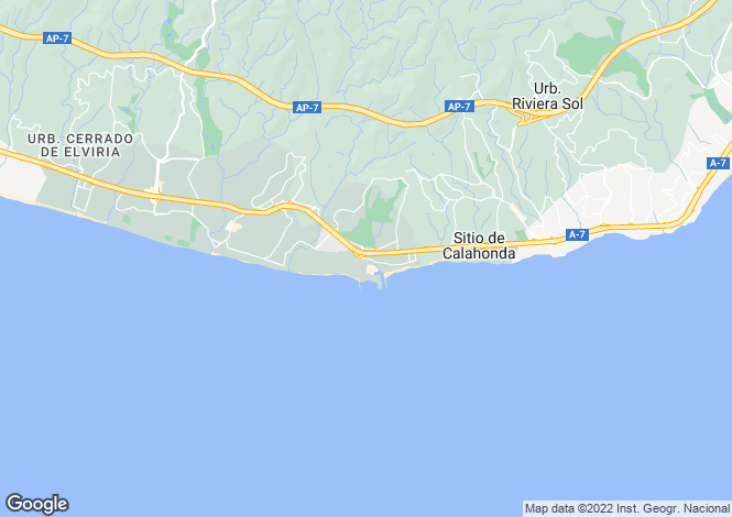 Map for Andalusia, Malaga, Cabopino