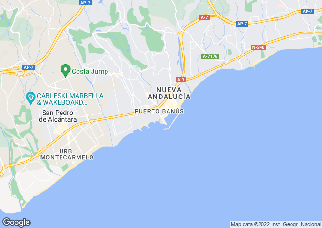 Map for Puerto Banus, Malaga, Spain