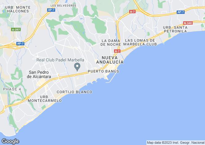 Map for Playas del Duque, Marbella - Puerto Banus, Malaga, Spain