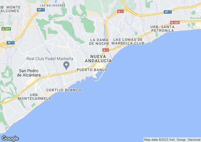 Map for Andalusia, Málaga, Puerto Banús