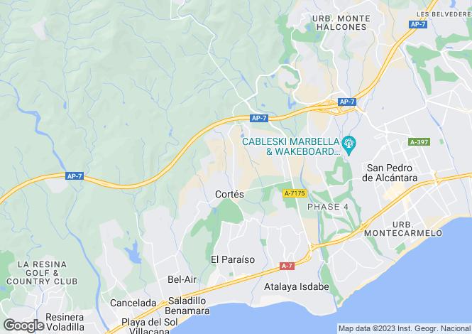 Map for La Alqueria, Benahavis, Marbella