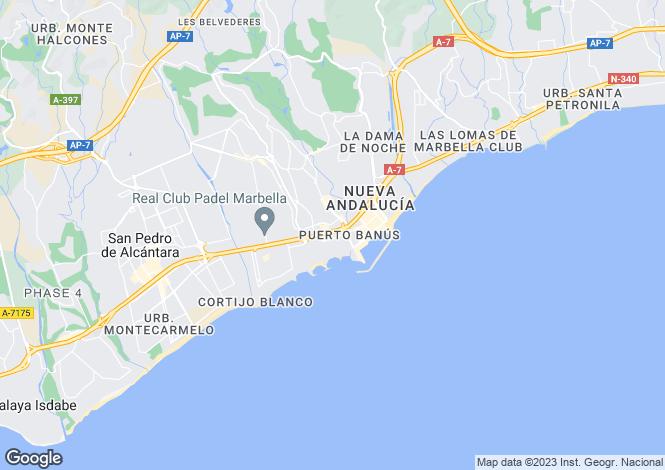 Map for Las Gaviotas, Marbella - Puerto Banus, Malaga, Spain
