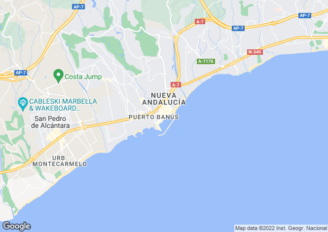 Map for Puerto Banus, Andalucia, Spain