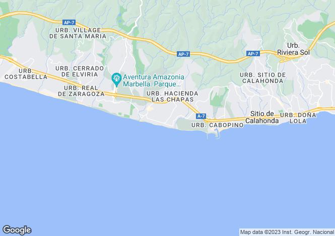 Map for Andalusia, Málaga, Elviria (Marbella)