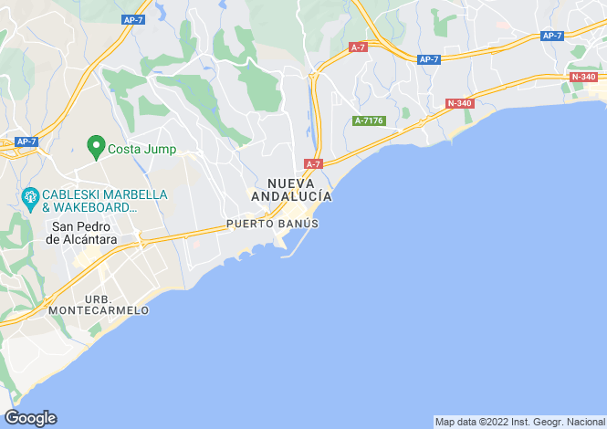 Map for Puerto Jose Banus, Malaga, Spain