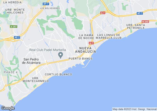 Map for Andalucia, Malaga, Nueva Andalucia