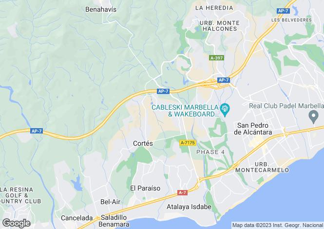 Map for Large Villa, La Alqueria, Benahavis